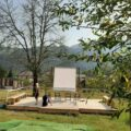 palco all'aperto per spettacoli di teatro a cicagna
