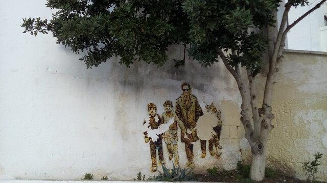 murales di pierpaolo pasolini scoperto durante la tournée teatrale